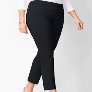 Talbots | Heritage black capris, side zip